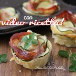 Rose di zucchine e speck, ricetta facile