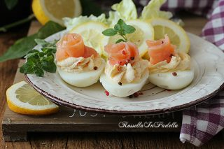 uova cremose al salmone, antipasto facile