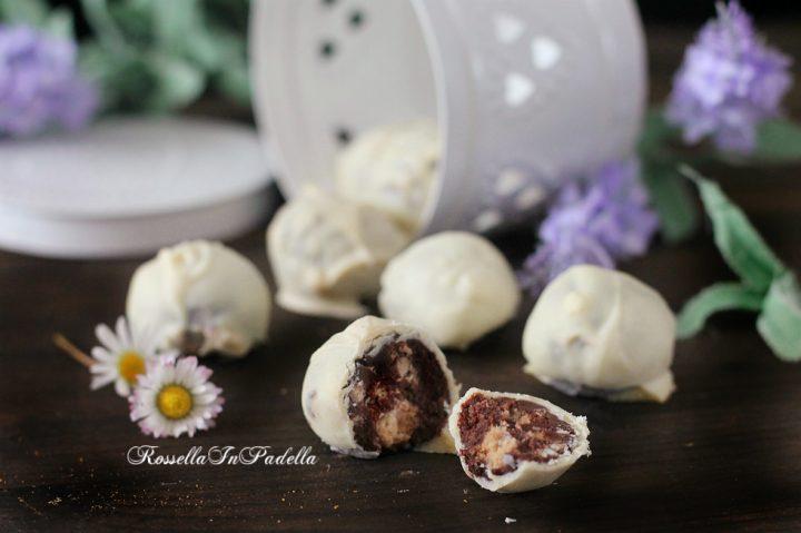 Tartufi con ringo e cioccolato bianco