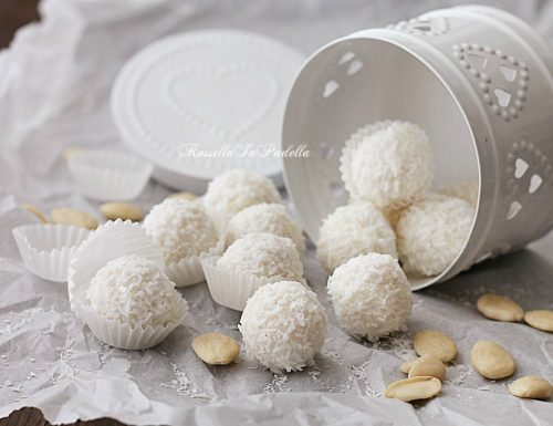 Dolcetti con wafer, cocco e cioccolato bianco