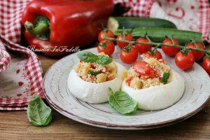 Mozzarelle ripiene di cous cous alle verdure