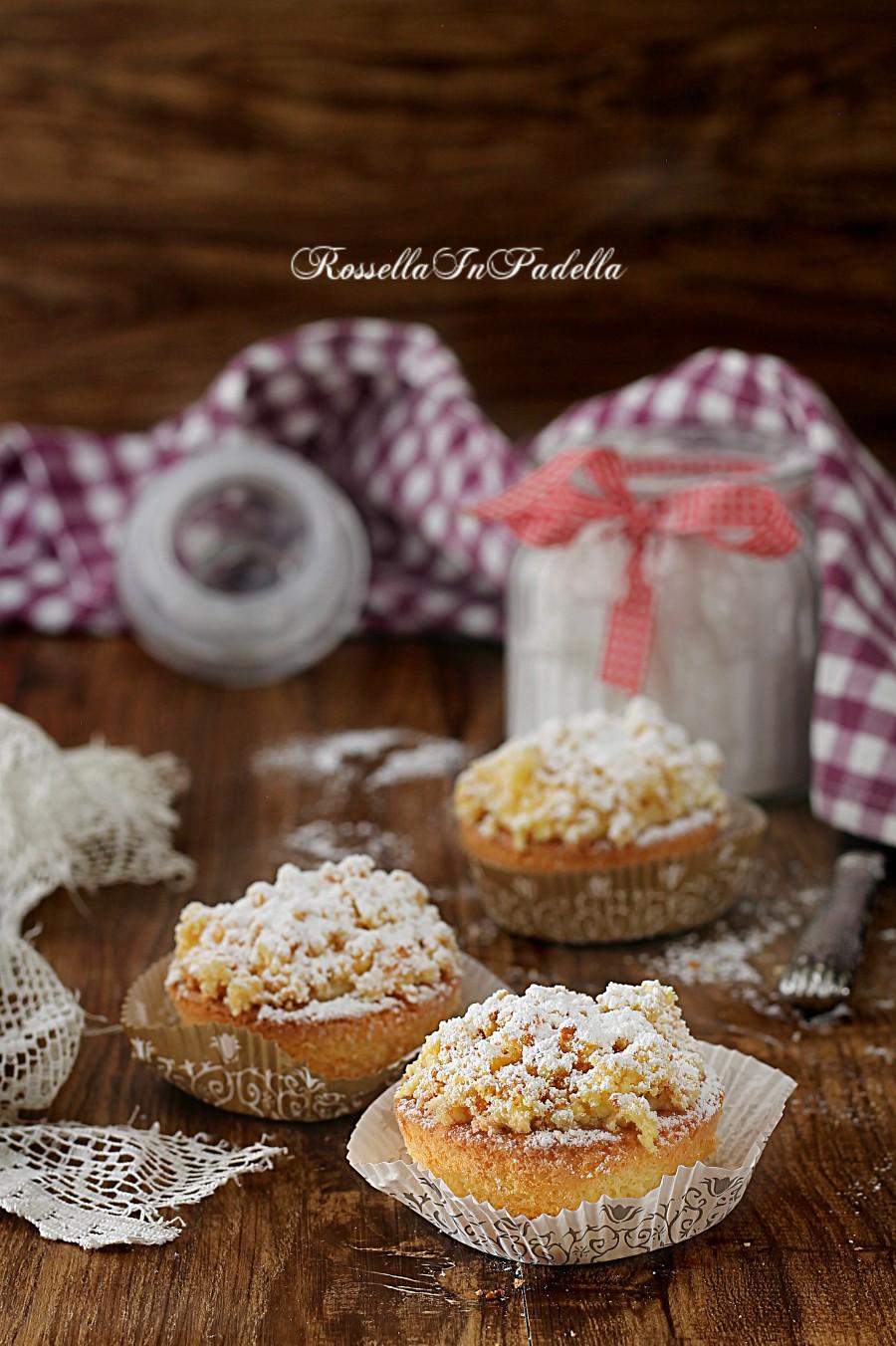 Muffin mimosa con crema pasticcera