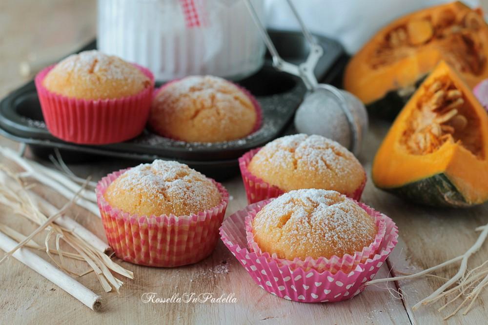 Muffin alla zucca nel frullatore