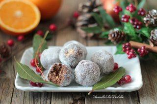 Palline di pandoro al cioccolato e arancia