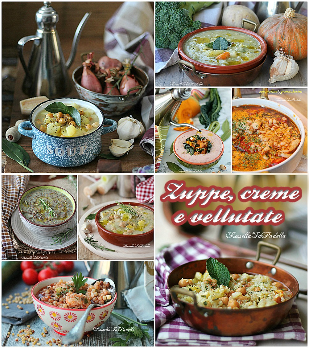 Zuppe, creme e vellutate, confort food