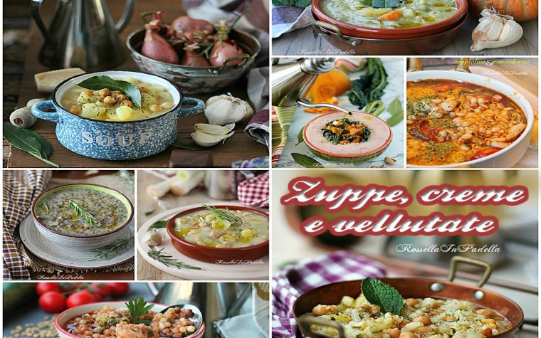 Zuppe, creme e vellutate, confort food