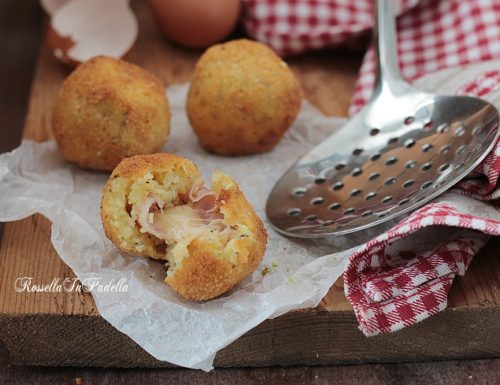 Bombette di patate con prosciutto e fontina