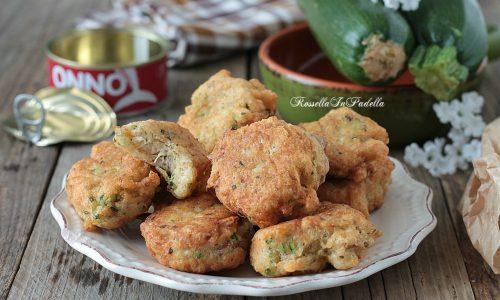 Frittelle con tonno e zucchine
