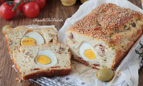Mattonella rustica con olive e uova sode