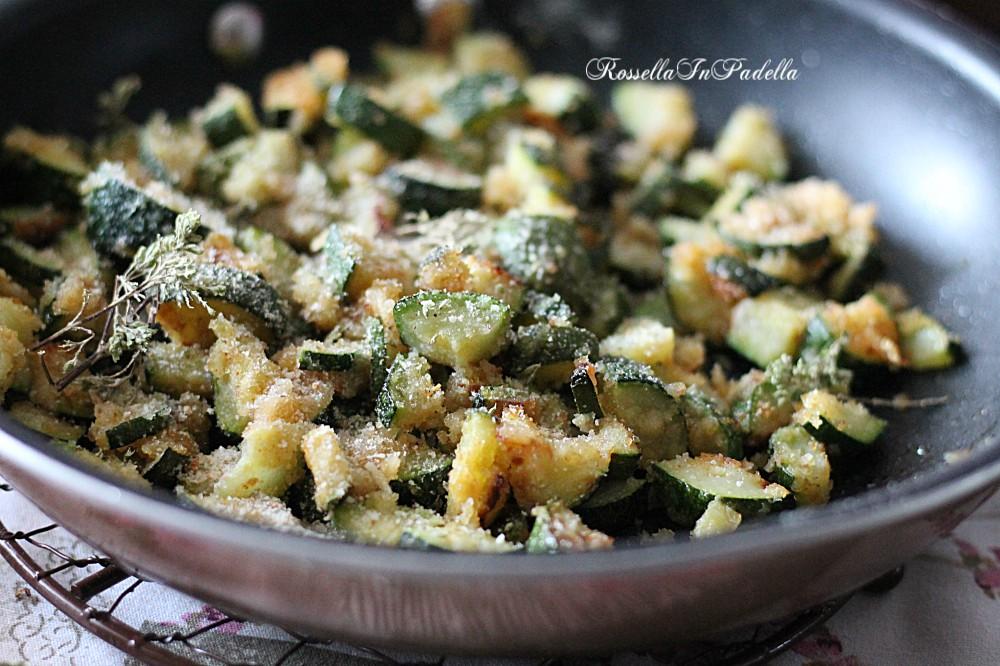 Zucchine sabbiose in padella
