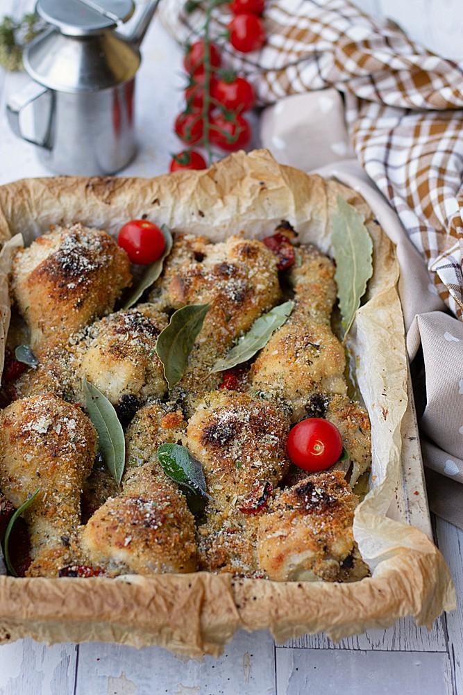 Pollo sabbioso al forno, ricetta croccante e gustosa