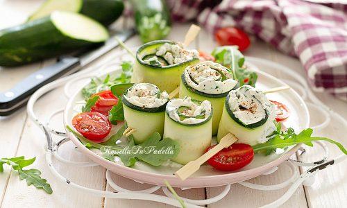 Girelle di zucchine con ripieno cemoso