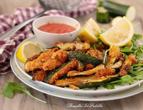 Stick di zucchine fritte