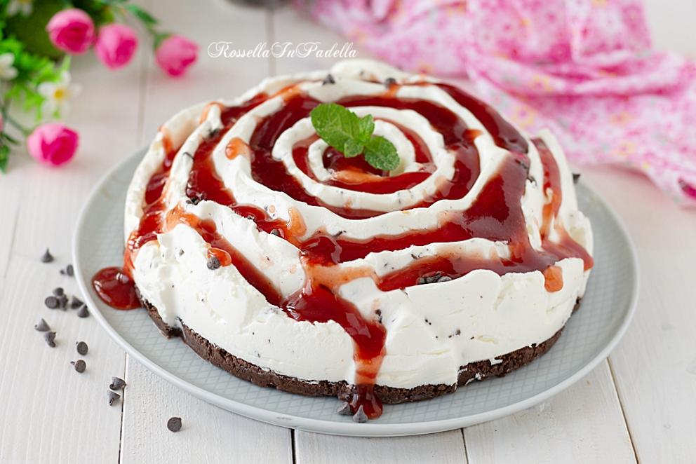 Torta fredda al mascarpone e marmellata