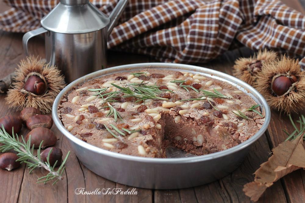Castagnaccio, ricetta facile