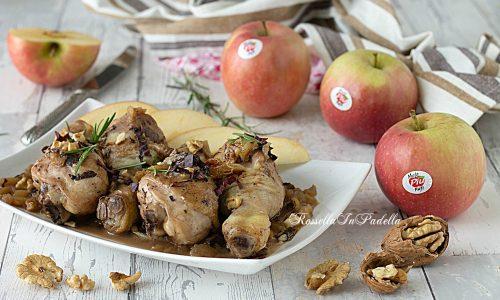 Pollo alle mele, radicchio e noci
