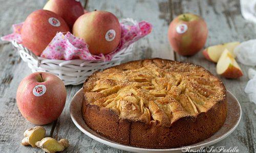 Crostata morbida con mele e zenzero