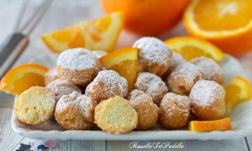 Castagnole all'arancia e ricotta, ricetta veloce