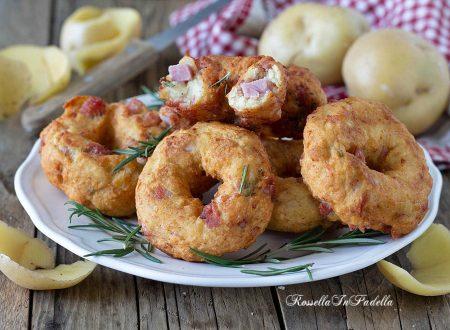 Ciambelle di patate al prosciutto 5 minuti