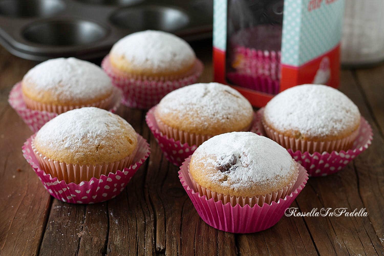 Muffin alle nocciole con cuore di nutella