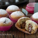 Muffin alle nocciole con cuore di nutella che non secca