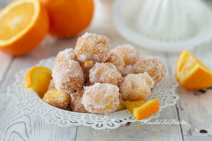 Pepite zuccherose alle mandorle e arancia