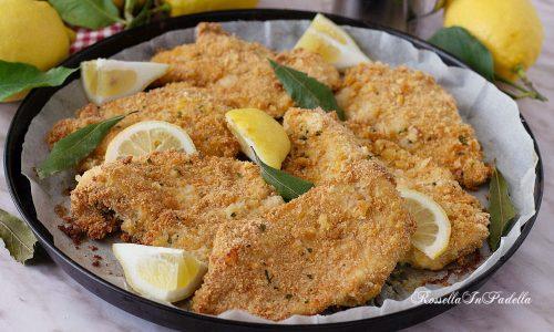 Cotolette di pollo al forno al limone
