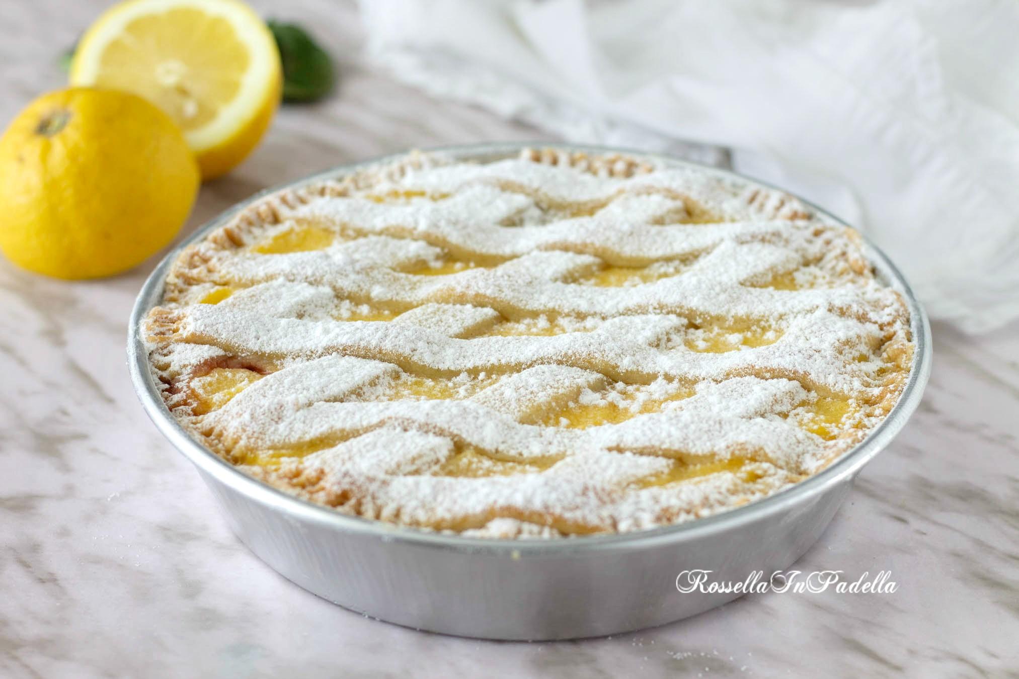 Crostata crema limone e amarene