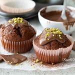 Muffin al cioccolato al latte e panna