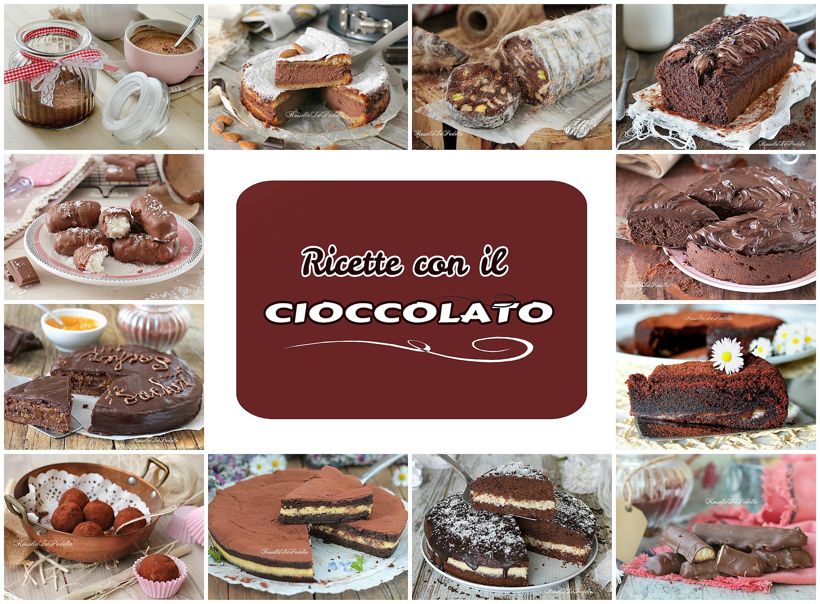 Dolci, torte e ricette con il CIOCCOLATO