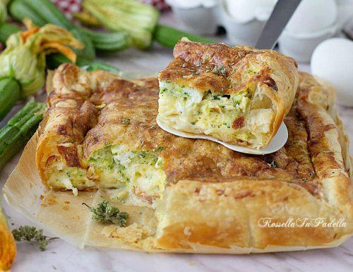 Frittata al forno sfogliata con zucchine