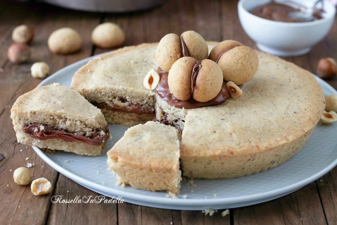 Torta BACIO DI DAMA con nutella