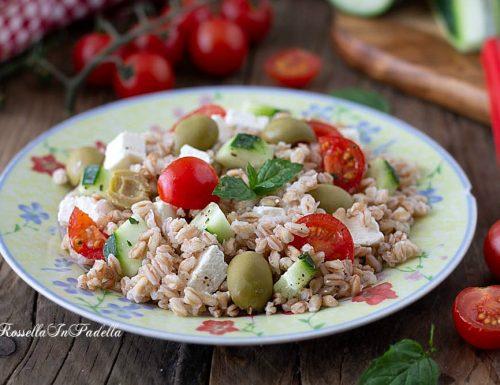Farro all'insalata alla greca