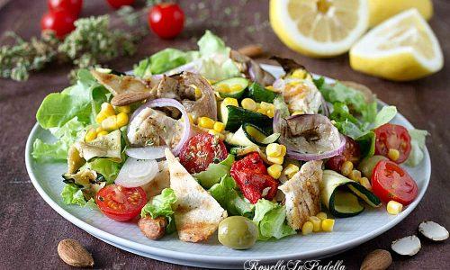 Insalata di pollo grigliato con verdure