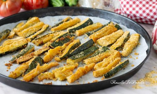 Stick di zucchine gratinate al forno
