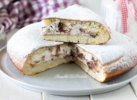 Torta Pancake con ricotta e cioccolato