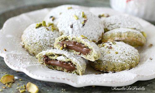Biscotti di FROLLA al PISTACCHIO con nutella