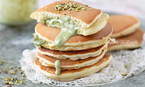 Pancakes ripieni al PISTACCHIO senza BURRO