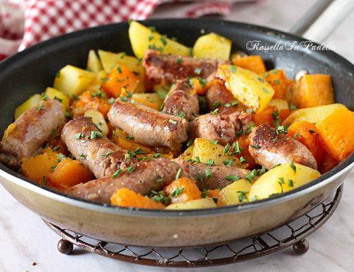 ZUCCA patate e salsiccia in PADELLA