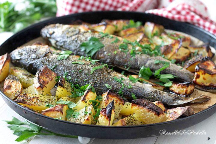 Ricetta Branzini al forno con patate