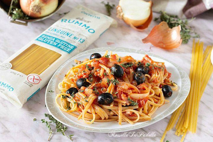 Ricetta  Linguine con olive e guanciale
