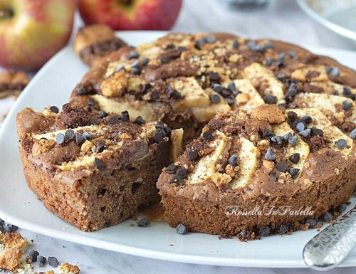 Torta di mele COOKIES con biscotti nell'impasto