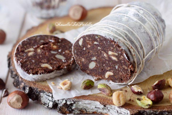 Salame di cioccolato senza uova senza burro