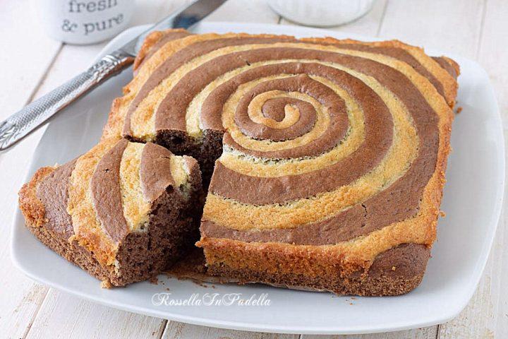 ricetta Torta SPIRALE al cacao e mandorle