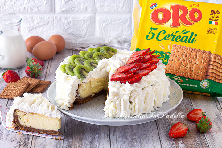 torta con biscotti oro saiwa
