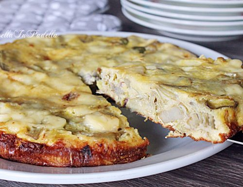 FRITTATA DI CARCIOFI al formaggio