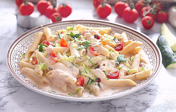 Ricetta PASTA FREDDA TONNATA con zucchine e pomodorini