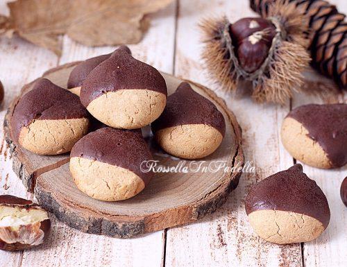 CASTAGNOTTI biscotti con farina di castagne e CIOCCOLATO