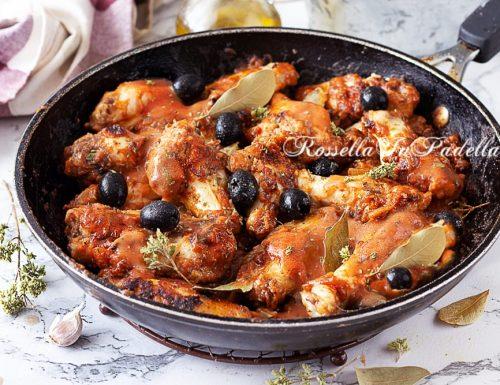 POLLO ALLA CACCIATORA con olive IN PADELLA