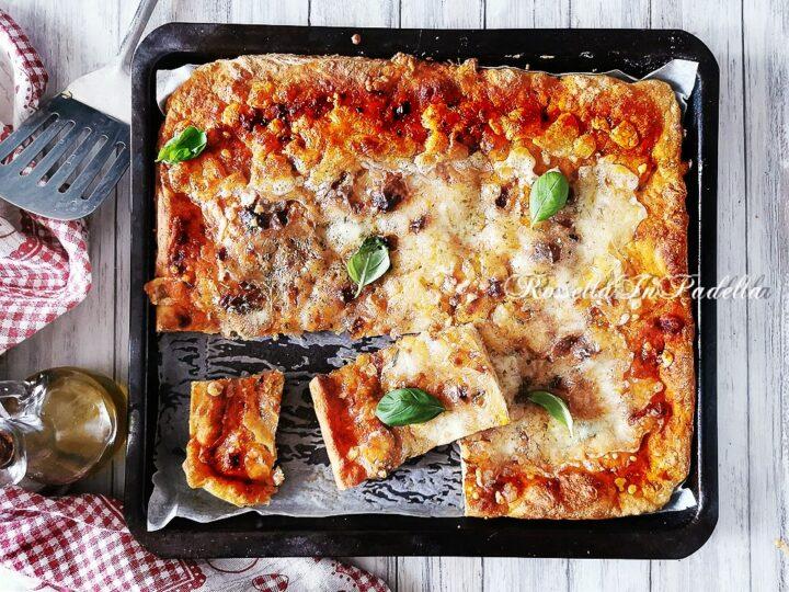 Ricetta PIZZA IN TEGLIA SENZA IMPASTARE